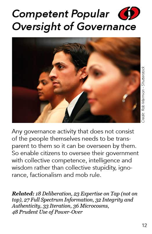 12 – Competent Popular Oversight of Governance