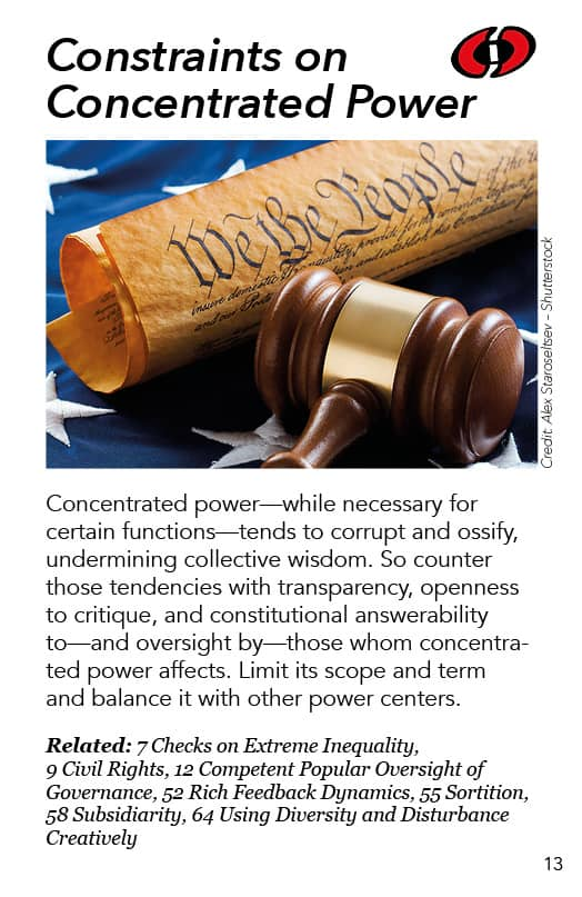 13 – Constraints on Concentrated Power