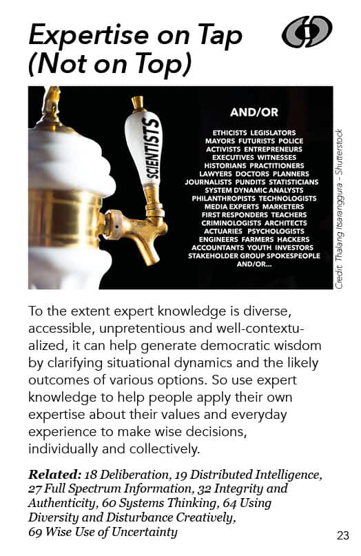 23 – Expertise on Tap (Not on Top)