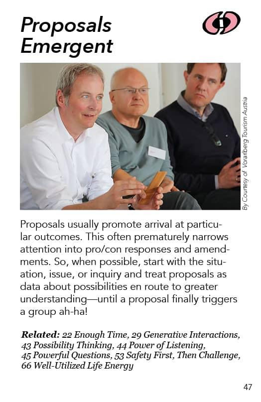 47 – Proposals Emergent