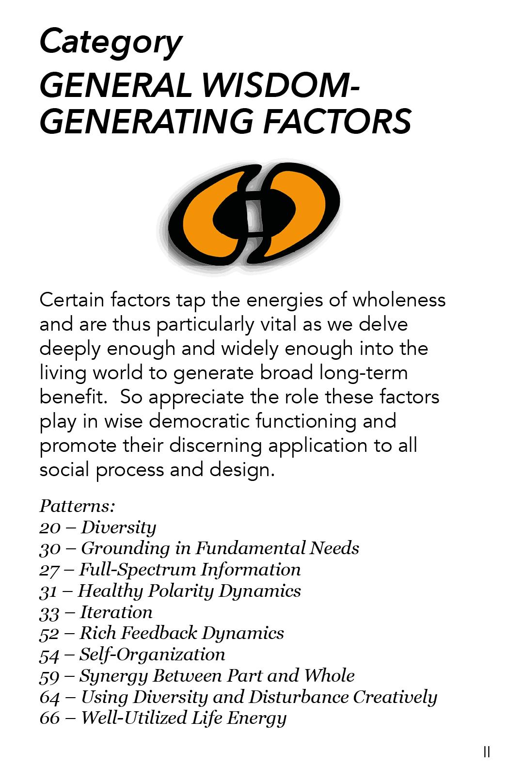AA - 2 - General Wisdom Generating Factors