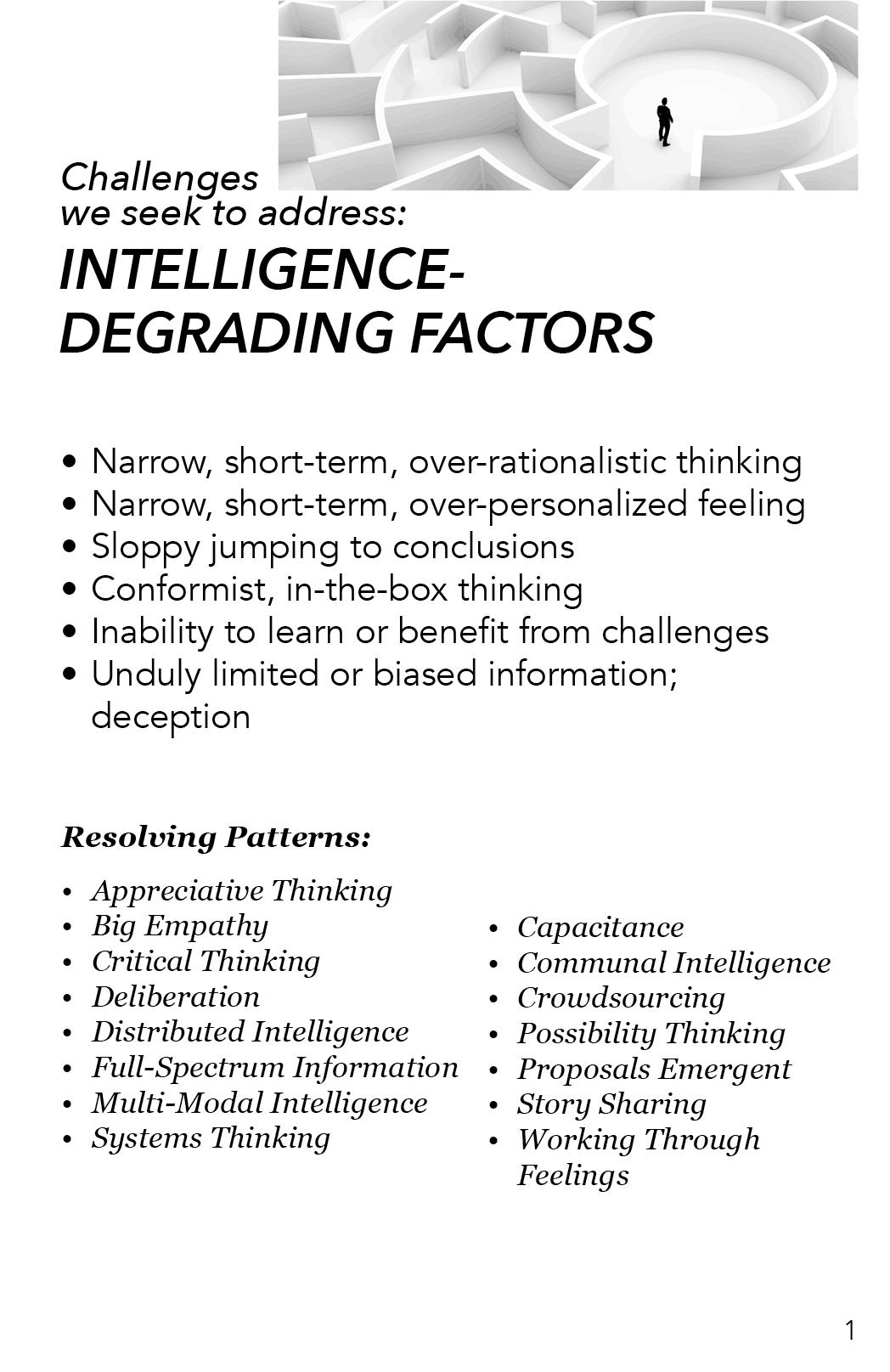 AAA - Intelligence Degrading Factors