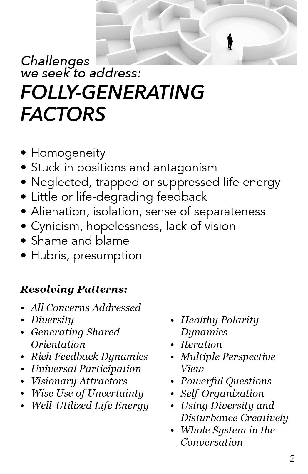 AAA - Folly Generating Factors